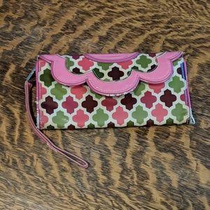 Vera Bradley floral quatrefoil wallet.